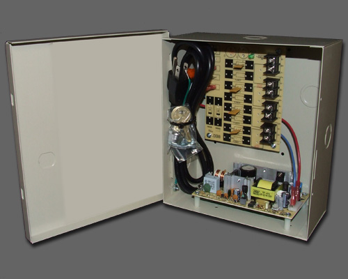 DCR 4-4-2 - 4 output PTC protected 4 amp 12VDC regulated power supply